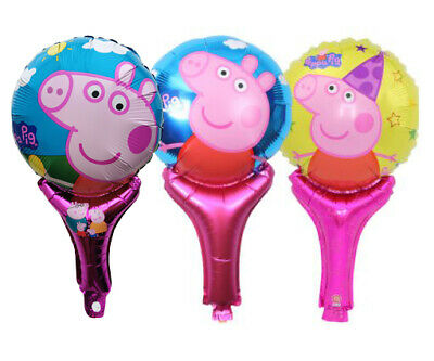 £2.99 • Buy Kids Peppa Pig Foil Balloons Hand Held Air-Fill Stick Birthdy Party Decorations