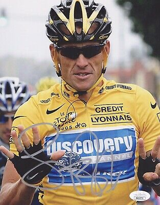 LANCE ARMSTRONG Signed Autographed 8X10 Photo...TEAM LIVE STRONG JSA CERTIFIED • 122.97£