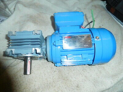 $89.95 • Buy NGB MS5624 Right Angle Gear Motor  220-380 Volt 3 Phase  0.12 HP .09KW