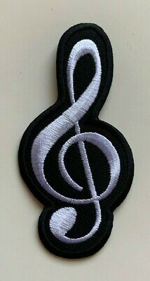 £1.99 • Buy MUSIC NOTE / Jacket/ Jeans / Logo - Embroidered Iron On Sew On PATCH