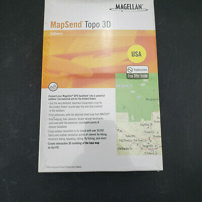 £17.63 • Buy NEW/SEALED- Magellan MapSend Topo 3D Software - For GPS Handheld- USA