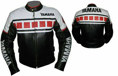 Yamaha Red Black Cowhide Leather Motorbike/motorcycle Riding Armoured Jacket • 152.80£