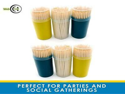 £2.49 • Buy Wooden Toothpicks Tooth/Party/Food/Cocktail Sticks - 6 X 100 Pack By OTL