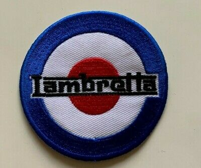 £1.99 • Buy Lambertta Mod Scooter Shooting Flag Vespa -Embroidered Iron On Sew On PATCH