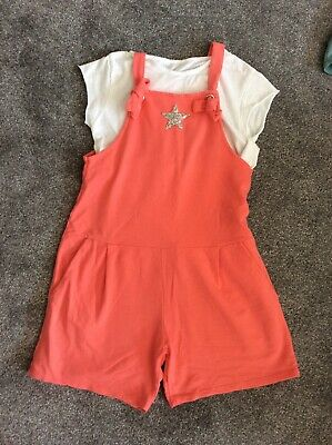 Lagenlook Girls Dungarees Playsuit Age 10-11-12 • 20£