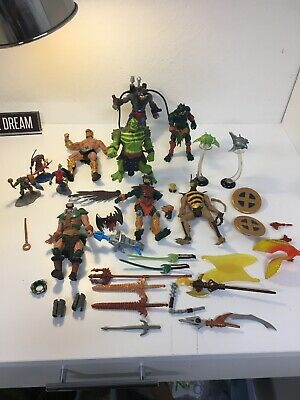 $69.99 • Buy 2001-2002-He-Man Masters Of The Universe Lot, Action Figures Weapons Accessories