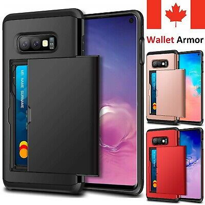 $ CDN7.95 • Buy For Samsung Galaxy S20 FE S10 S9 S8 Note 20 10 Plus Case Card Wallet Armor Cover
