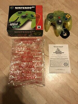 $ CDN1329.99 • Buy Official Extreme Green Neon Nintendo 64 N64 Game Controller In Box Authentic #1