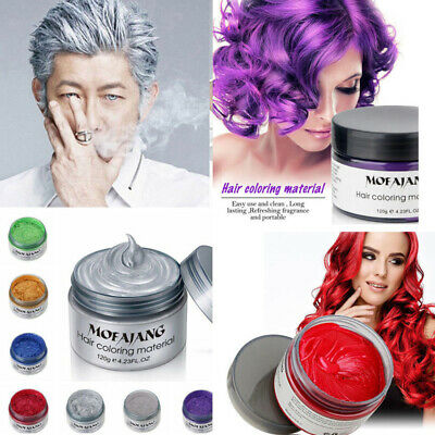 Mofajang HAIR WAX Color Styling Cream Mud NATURAL Hairstyle Dye Pomade WASHABLE • 4.99£