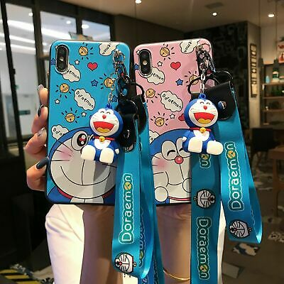 AU7.99 • Buy Cute 3D Cartoon Doraemon Doll Pendant Stand + Strap Case Cover For Various Phone