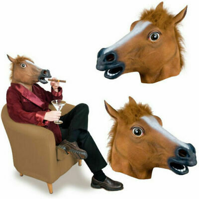 £6.99 • Buy Horse Head Mask Rubber Panto Fancy Dress Party Cosplay Halloween Adult Costume