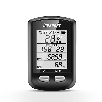 GPS SMART BIKE CYCLING COMPUTER IGPSPORT IGS10 Bluetooth Ant+ LCD Display UK • 36.99£