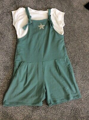 Lagenlook Dungarees Playsuit Age 10-11-12 • 17£