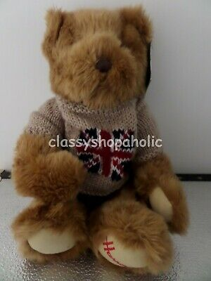 Harrods Large Union Jack Jumper Bear ( Beige ) BNWT - RRP £22.95 • 25£