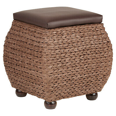 £41.99 • Buy Hartleys Small Brown Storage Ottoman Footstool/Bench/Pouffe Toy Trunk Box