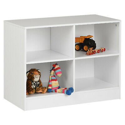 Hartleys White Kids Bedroom Storage Unit Toy Tidy Childrens Playroom Shelves • 36.99£