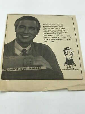 $7.98 • Buy RARE VINTAGE MR ROGERS NEIGHBORHOOD Parody Newspaper Clipping 1980s