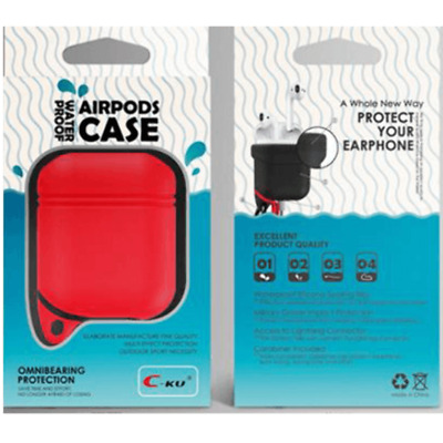 $ CDN6.27 • Buy AirPods Silicone Case Cover RED