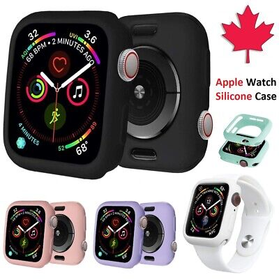$ CDN5.99 • Buy Apple Watch Case Silicone Lightweight Slim Soft Cover For Series 1 2 3 4 5 6 SE