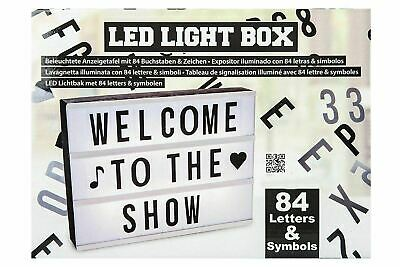 Illuminated Plastic Display Board With 84 Letters & Symbols Mat LED Light Box • 16.49£