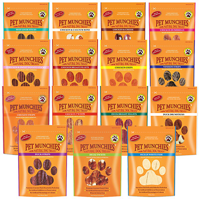 £4.99 • Buy Pet Munchies 100% Natural Dog Puppy Food Real Meat Treats & Training Chews