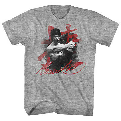 $29.99 • Buy Bruce Lee Mens New T-Shirt Sizes SM - 5XL WHA-TAAA In Gray Heather Martial Art