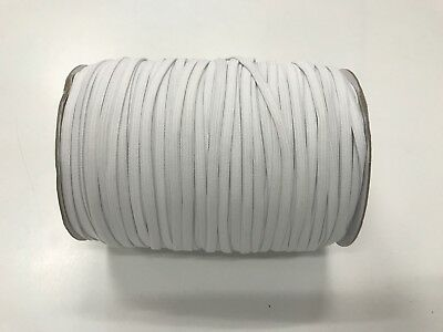AU75 • Buy ELASTIC 6mm White Knitted  250mt Roll For Skirts Pants Swimwear
