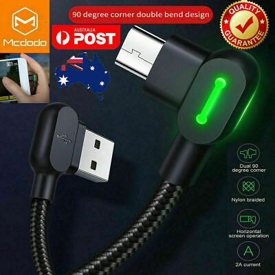 AU8.49 • Buy MCDODO 90 Degree Right Angle Micro USB Charging Charger Cable Samsung Android LG