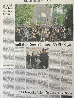 $3.99 • Buy George Floyd Black Lives Matter Protests In Nyc Wall Street Journal Article Wsj,