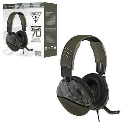 AU67.95 • Buy Turtlebeach Turtle Beach Recon 70 Green Camo Headset For PS4 Xbox One & Switch N