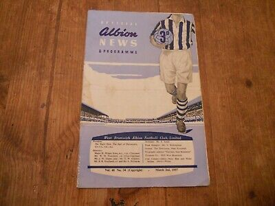 £3.50 • Buy West Bromwich Albion V Arsenal 1956/7