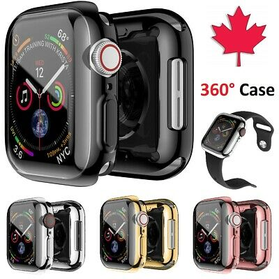 $ CDN6.99 • Buy Apple Watch Case 360 Electroplate + Screen Protector Cover For Series 1 2 3 4 5