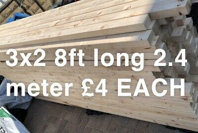 3x2 TIMBER 2.4 Meter Lenghts C16 THIS IS A LENGTH PRICE NOT A METER BARGAIN!!!! • 4£