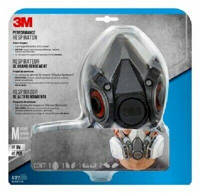 AU110 • Buy 3m Safety Half Face Perfomance Project Respirator+cartridges+filters Made In Usa