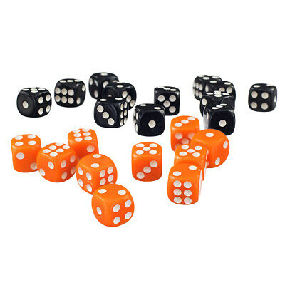 AU14.48 • Buy 100 Pieces 12mm Opaque Six Sided D6 Spot Dice Games For D&D RPG MTG Games
