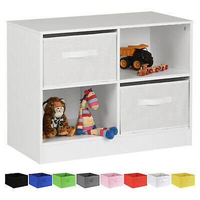 Hartleys White Kids Bedroom Storage Organizer Unit With Drawers Childrens Childs • 34.99£