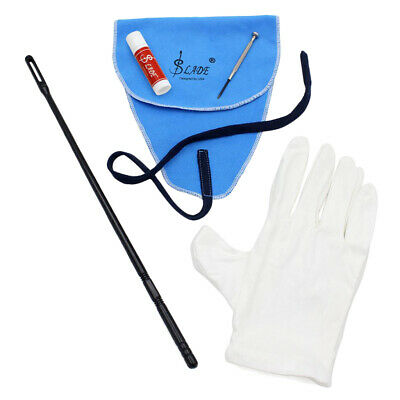 AU13.12 • Buy 5 In 1 Flute Cleaning Kit Polish Cloth+Stick+Cork Grease+Screwdriver+Gloves