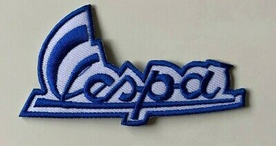 £1.89 • Buy VESPA SCOOTER MOD- BLUE- SIGNATURE -Sew On Iron On Embroidered- Patch