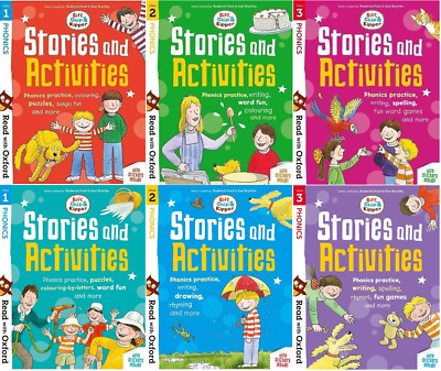 Read With Oxford Phonics:Biff,Chip & Kipper Stories 6 Books Collection Set  • 19.99£