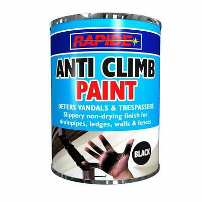 Anti Climb Paint Vandal Intruder Slippery Black Paint Aids Security 500ml  • 14.65£