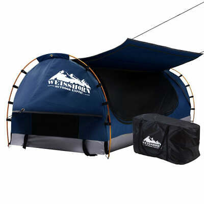 AU202.35 • Buy Weisshorn Swag King Single Camping Swags Canvas Free Standing Dome Tent Dark Blu