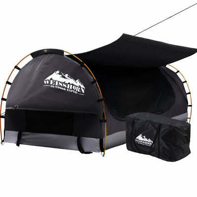 AU202.35 • Buy Weisshorn Swag King Single Camping Swags Canvas Free Standing Dome Tent Dark Gre
