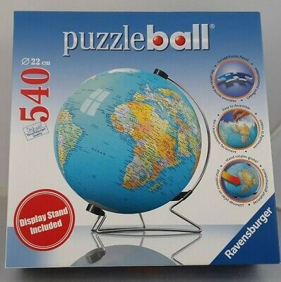 $54.99 • Buy Puzzle Ball 540 Pieces The Earth 3D With Stand~ Ravensburger