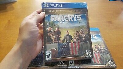 AU97.36 • Buy PS4 Far Cry 5 Gold Edition Steelbook BRAND NEW FACTORY SEALED Canadian Version