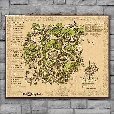 $49.95 • Buy Discovery Island Map ~ Disney World Wood Sign Plaque Print Replica Reproduction