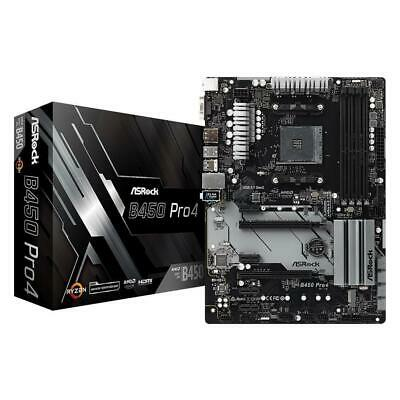 AU195 • Buy ASRock B450 Pro4 AMD Ryzen AM4 ATX Gaming Motherboard 4xDDR4 M.2 HDMI DP VGA