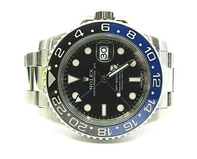$ CDN22000 • Buy Pre-Owned Rolex GMT Master II Batman Watch Black/Blue Oyster Perpetual EXCELLENT