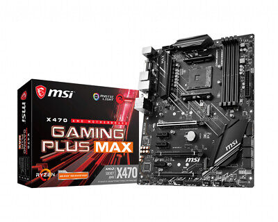 AU228.29 • Buy MSI Gaming Plus Max AM4 AMD X470 DDR4-SDRAM Motherboard