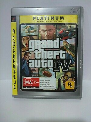 AU9.99 • Buy Grand Theft Auto IV 4 Playstation 3 PS3 Platinum Edition - GC