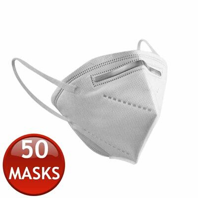AU199.95 • Buy 50 X KN95 N95 FFP2 FACE MASK PARTICULATE DISPOSABLE ANTI DUST MEDICAL SURGICAL